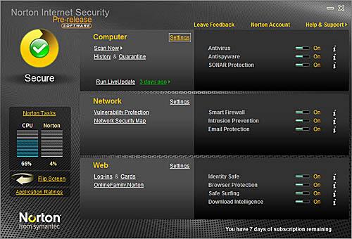 Norton Security 2010 y Norton Antivirus 2010 en beta