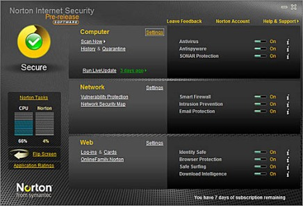 Norton Security 2010 y Norton Antivirus 2010 en beta